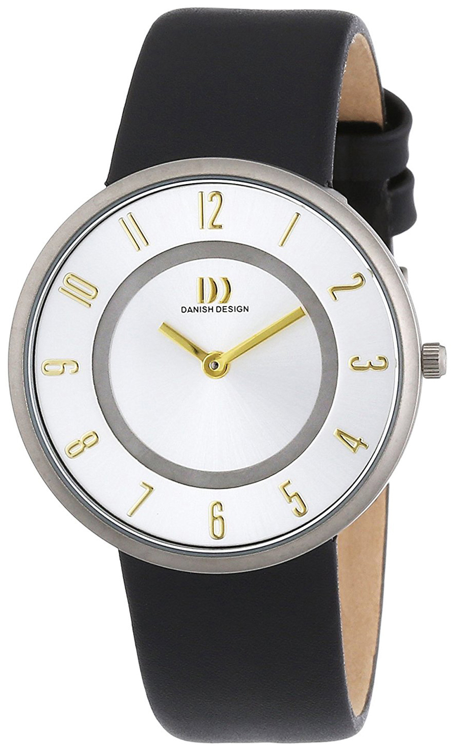 Danish Design Dress Damklocka 3326547 Silverfärgad/Läder Ø34 mm - Danish Design