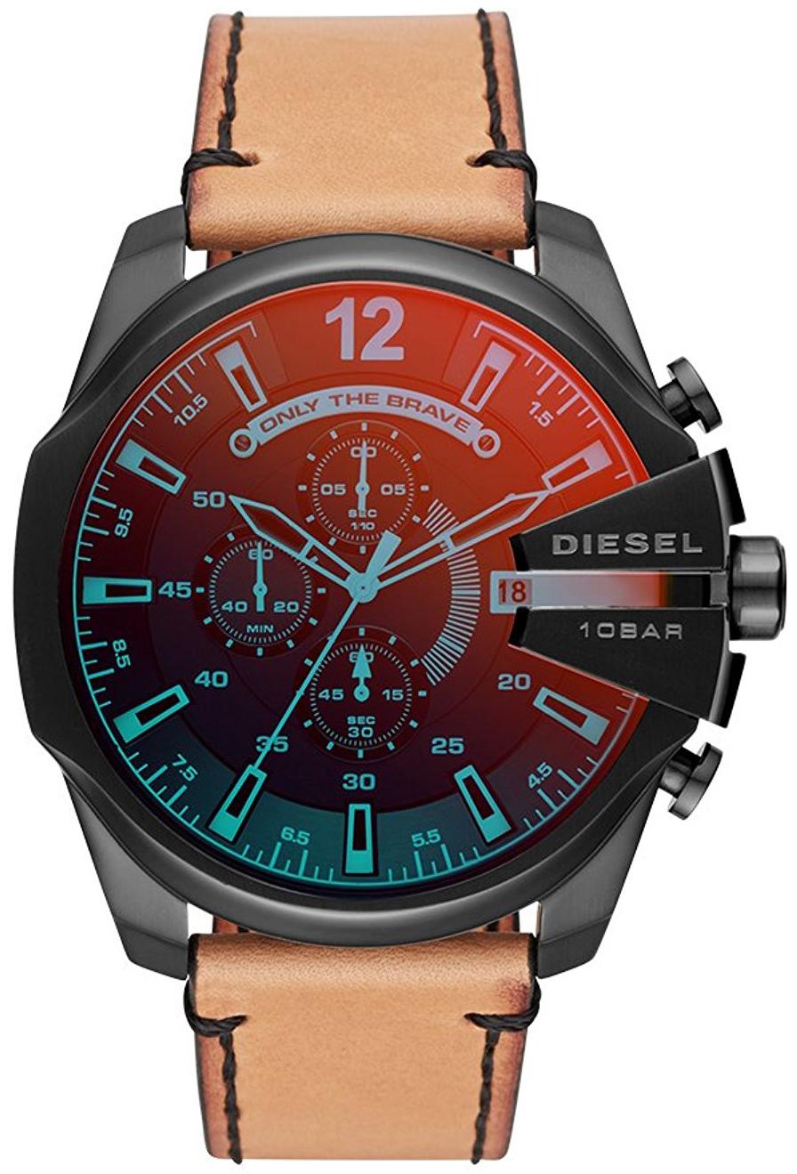 Diesel Chronograph Herrklocka DZ4476 Svart/Läder Ø51 mm - Diesel
