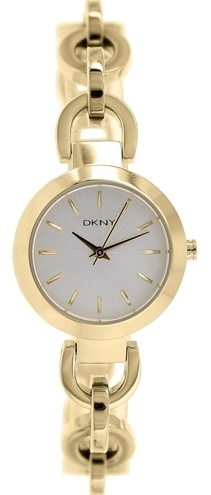 DKNY Stanhope Damklocka NY2134 Silverfärgad/Guldtonat stål Ø28 mm - DKNY