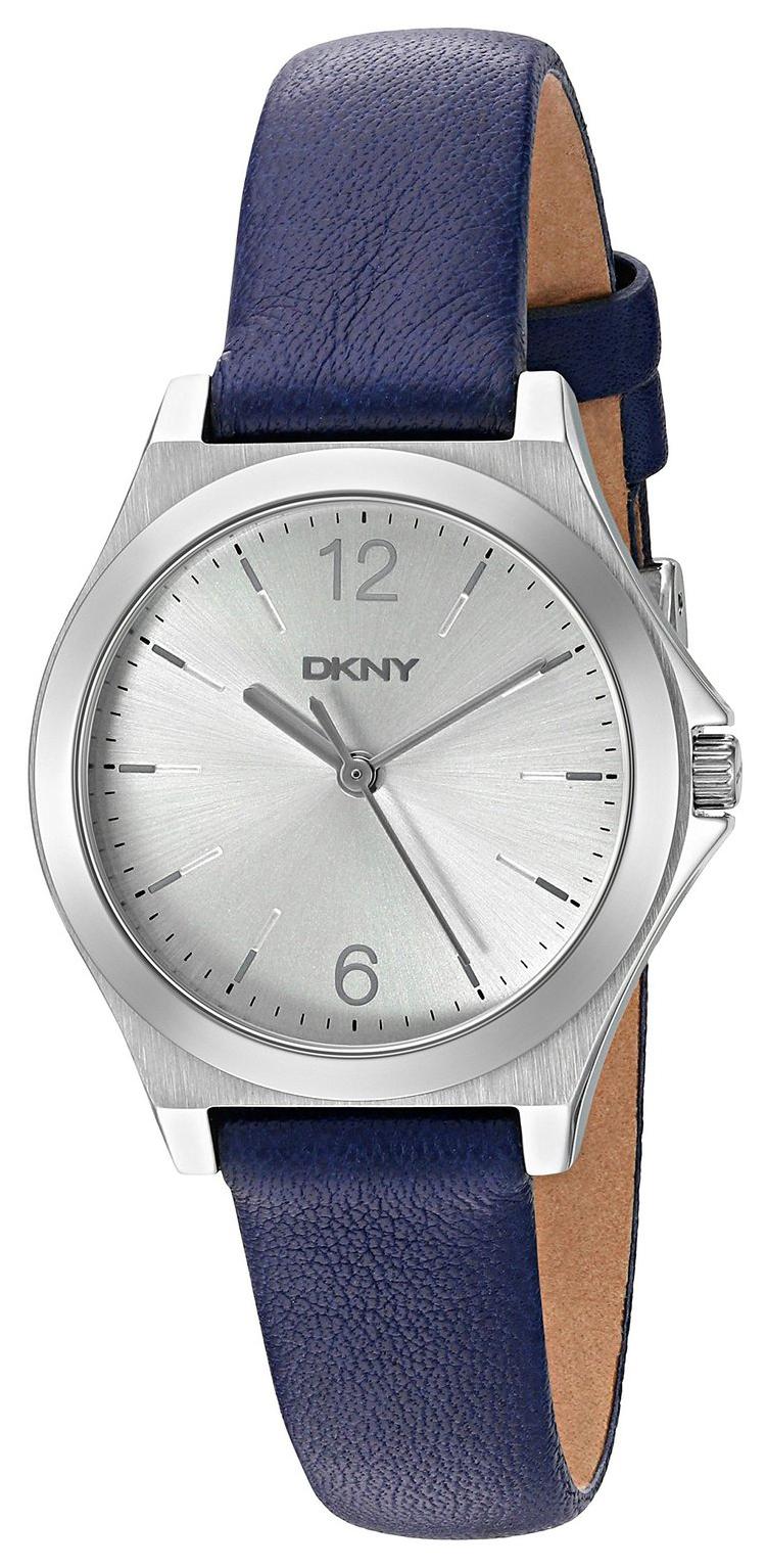 DKNY Dress Damklocka NY2480 Silverfärgad/Läder Ø30 mm - DKNY