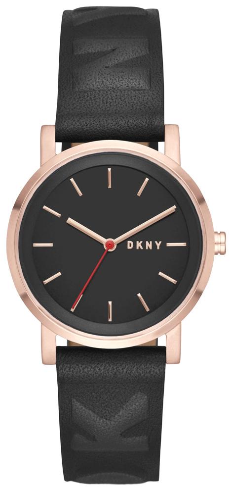 DKNY Dress Damklocka NY2605 Svart/Läder Ø34 mm - DKNY