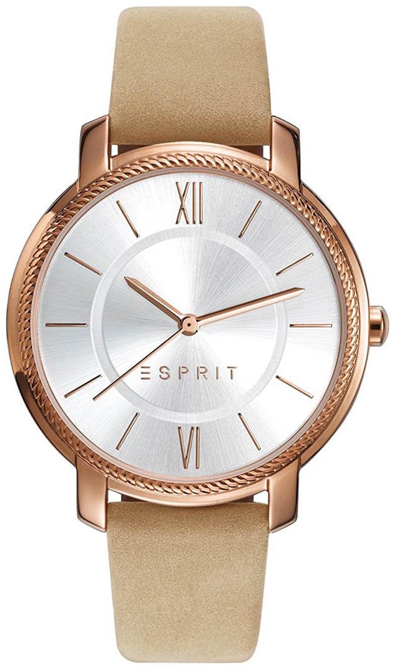Esprit Dress Damklocka ES109532002 Silverfärgad/Läder Ø36 mm - Esprit