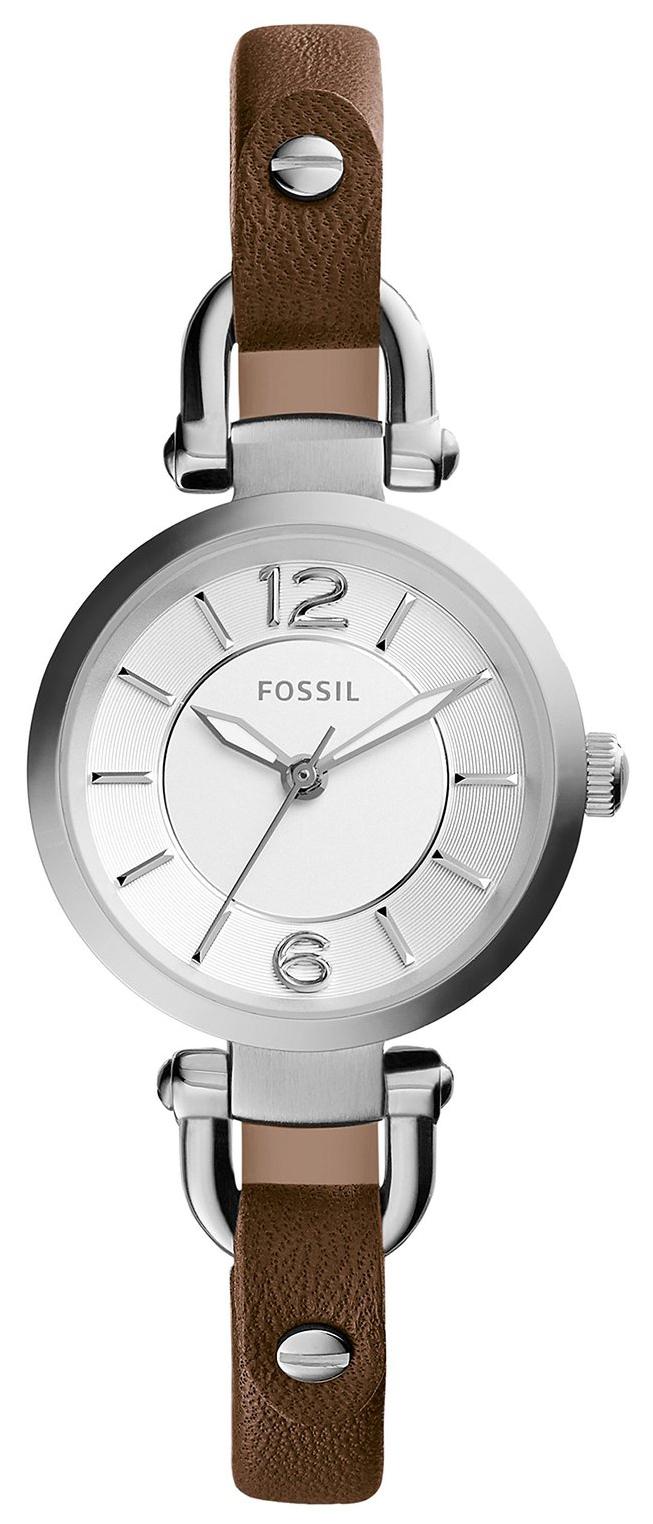 Fossil Dress Damklocka ES3861 Silverfärgad/Läder Ø26 mm - Fossil
