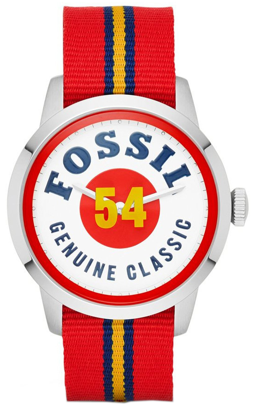 Fossil Townsman Herrklocka FS4922 Vit/Textil Ø40 mm - Fossil