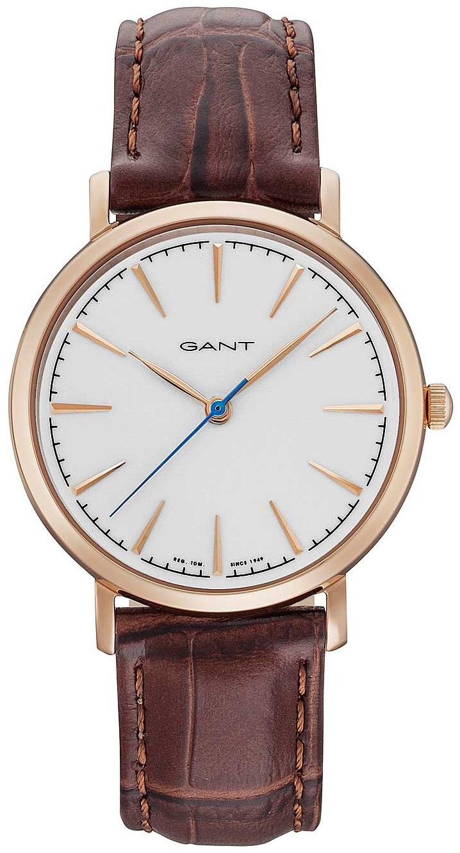 Gant Stanford Damklocka GT021003 Vit/Läder Ø36 mm - Gant