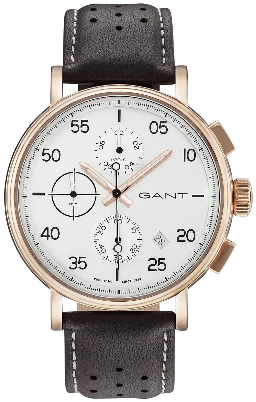 Gant Wantage Herrklocka GT037002 Vit/Läder Ø45 mm - Gant