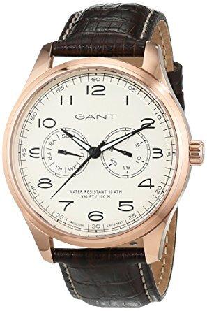Gant 99999 Herrklocka W71603 Champagnefärgad/Läder Ø44 mm - Gant