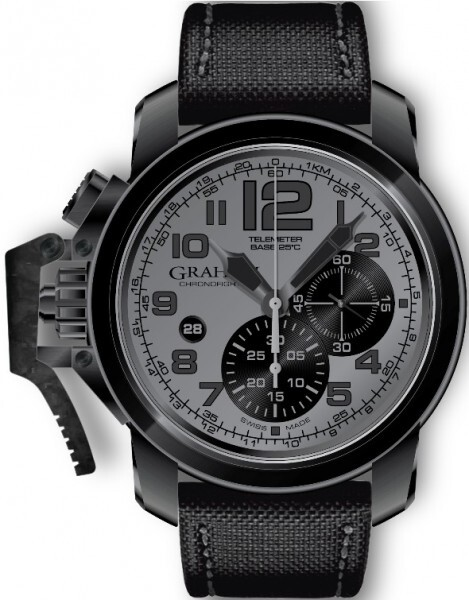 Graham Chronofighter Oversize Herrklocka 2CCAU.S01A Grå/Textil Ø47 mm - Graham