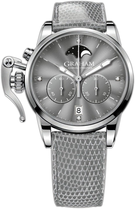 Graham Chronofighter Herrklocka 2CXBS.A02A Grå/Läder Ø36 mm - Graham