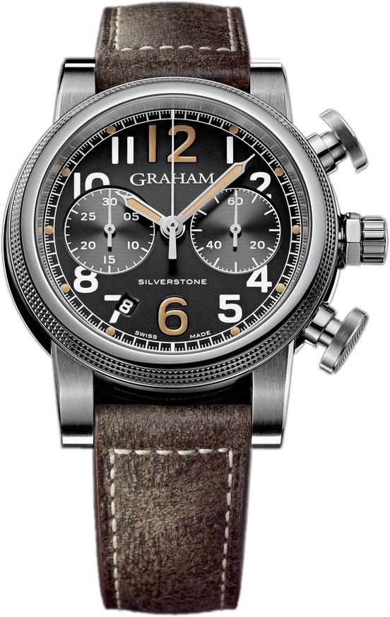 Graham Silverstone Herrklocka 2SABS.B05A Svart/Läder Ø44 mm - Graham