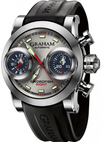 Graham Swordfish Booster Herrklocka 2SWBS.S09R Silverfärgad/Gummi Ø48 mm - Graham
