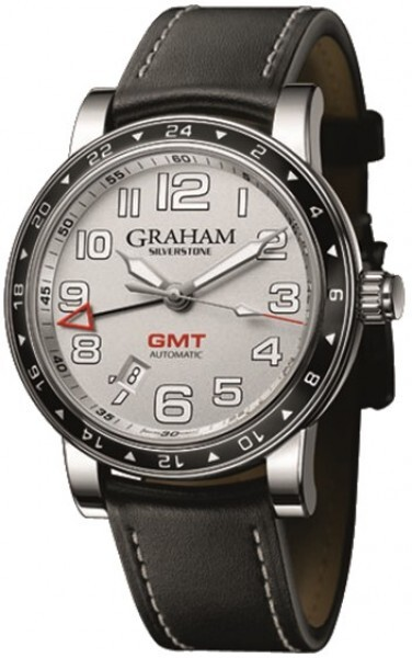 Graham Silverstone Time Zone Herrklocka 2TZAS.S01A Silverfärgad/Läder - Graham