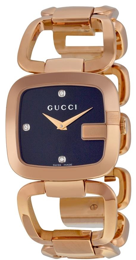 Gucci G Gucci Damklocka YA125409 Svart/Roséguldstonat stål - Gucci