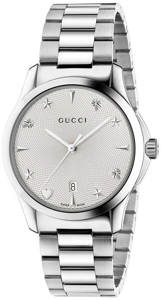 Gucci G-Timeless YA1264028 Vit/Stål Ø38 mm - Gucci