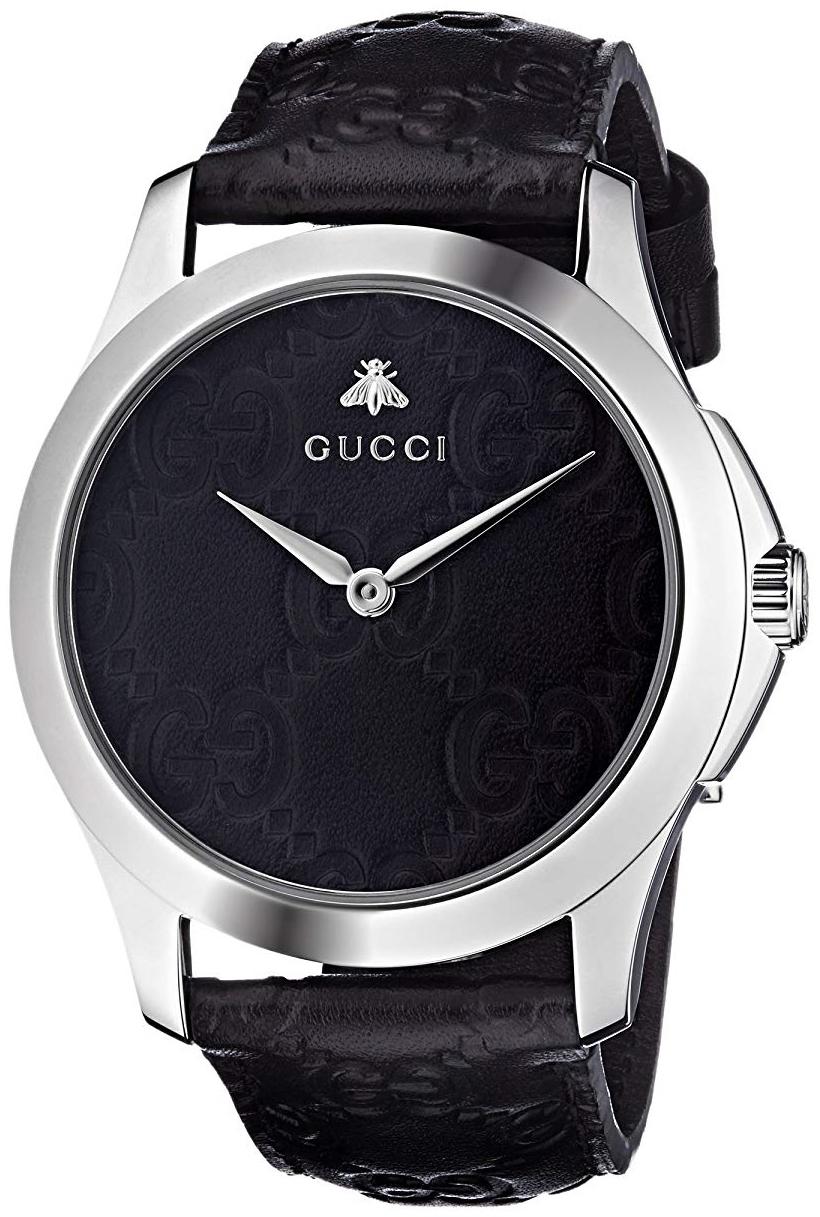 Gucci G-Timeless Herrklocka YA1264031 Svart/Läder Ø38 mm - Gucci