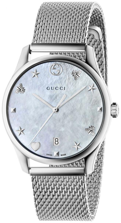 Gucci G-Timeless YA1264040 Vit/Stål Ø36 mm - Gucci