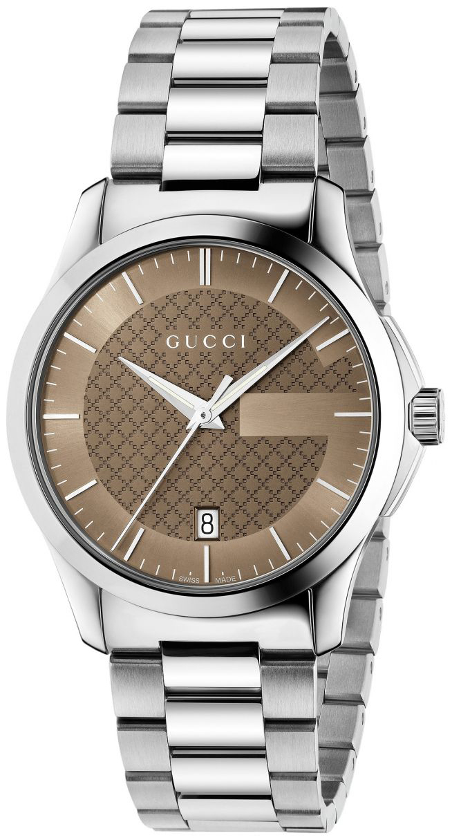 Gucci G-Timeless Herrklocka YA126445 Brun/Stål Ø38 mm - Gucci