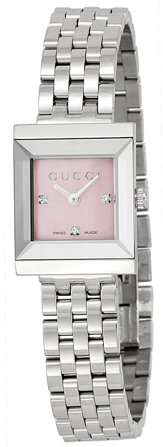 Gucci G- Frame Damklocka YA128401 Rosa/Stål - Gucci