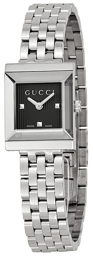 Gucci G- Frame Damklocka YA128403 Svart/Stål - Gucci