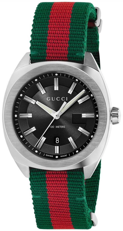 Gucci G- Frame Herrklocka YA142305 Svart/Stål Ø41.1 mm - Gucci