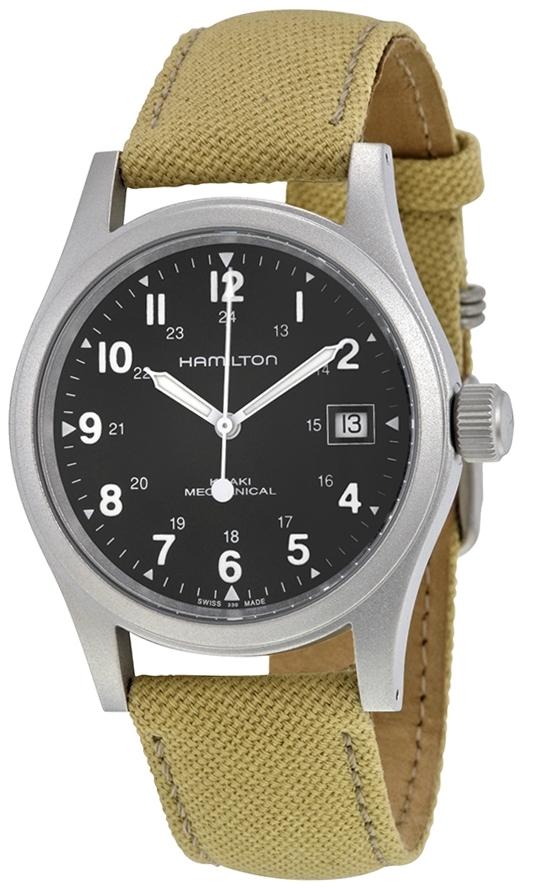 Hamilton Khaki Herrklocka H69419933 Svart/Textil Ø38 mm - Hamilton