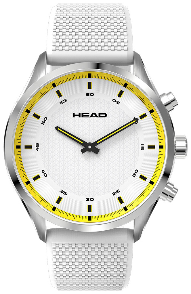 HEAD Advantage Herrklocka HE-002-03 Silverfärgad/Gummi Ø42 mm - HEAD
