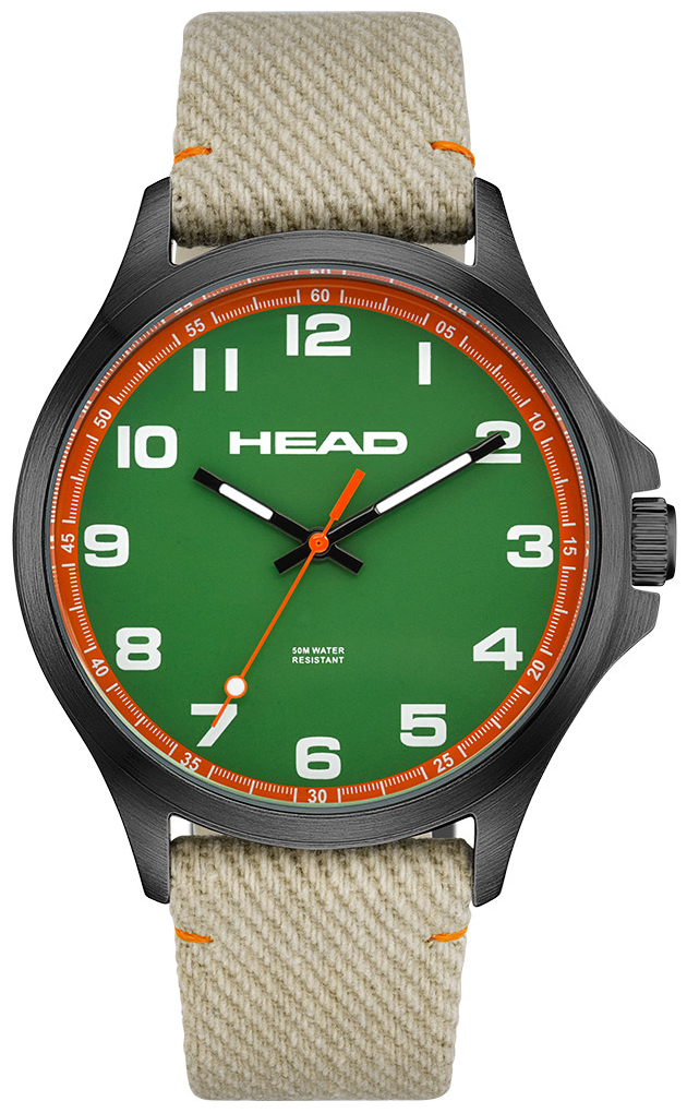 HEAD Smash Herrklocka HE-008-03 Grön/Textil Ø41 mm - HEAD