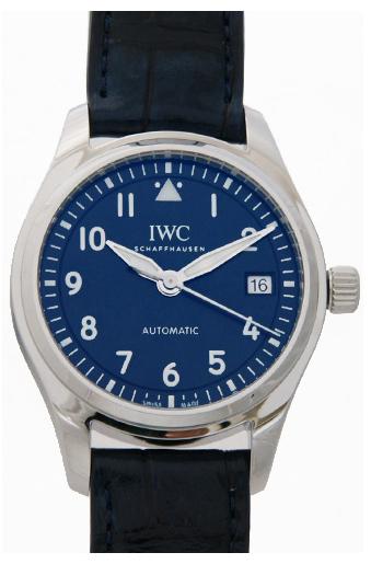 IWC Pilots Classic Herrklocka IW324008 Blå/Läder Ø36 mm - IWC