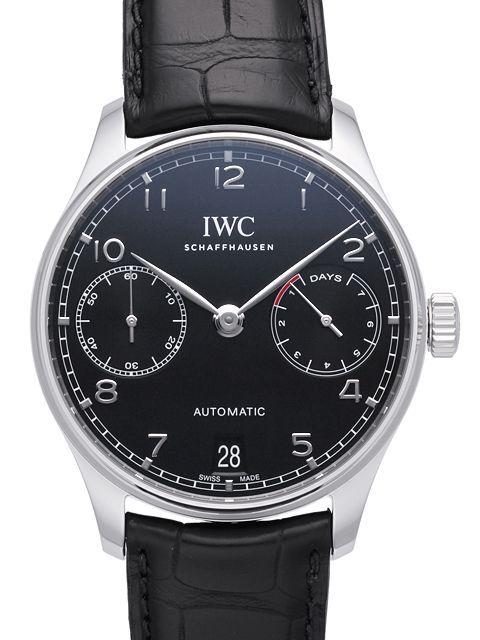 IWC Portuguese Herrklocka IW500703 Svart/Läder Ø42.3 mm - IWC