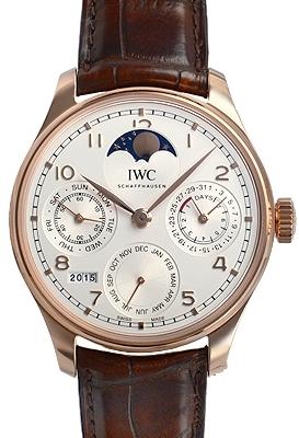 IWC Portuguese Herrklocka IW503302 Silverfärgad/Läder Ø44.2 mm - IWC