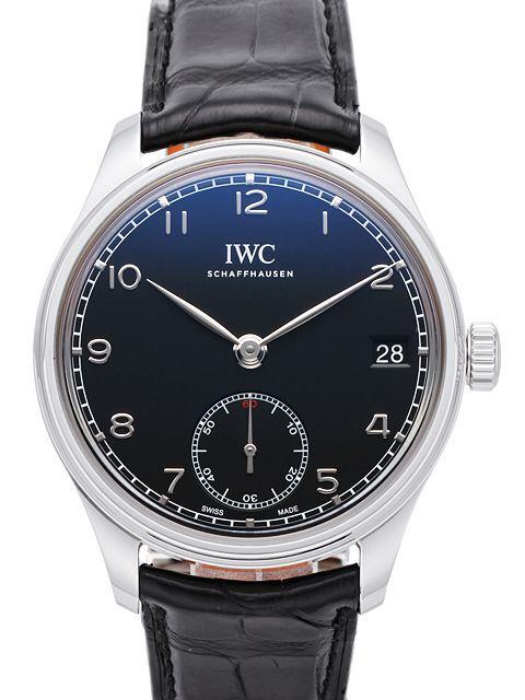 IWC Portuguese Hand-Wound Eight Days Herrklocka IW510202 Svart/Läder Ø43 - IWC