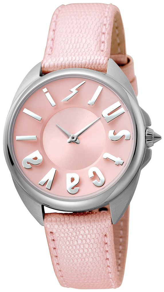 Just Cavalli Logo Damklocka JC1L008L0035 Rosa/Läder Ø34 mm - Just Cavalli