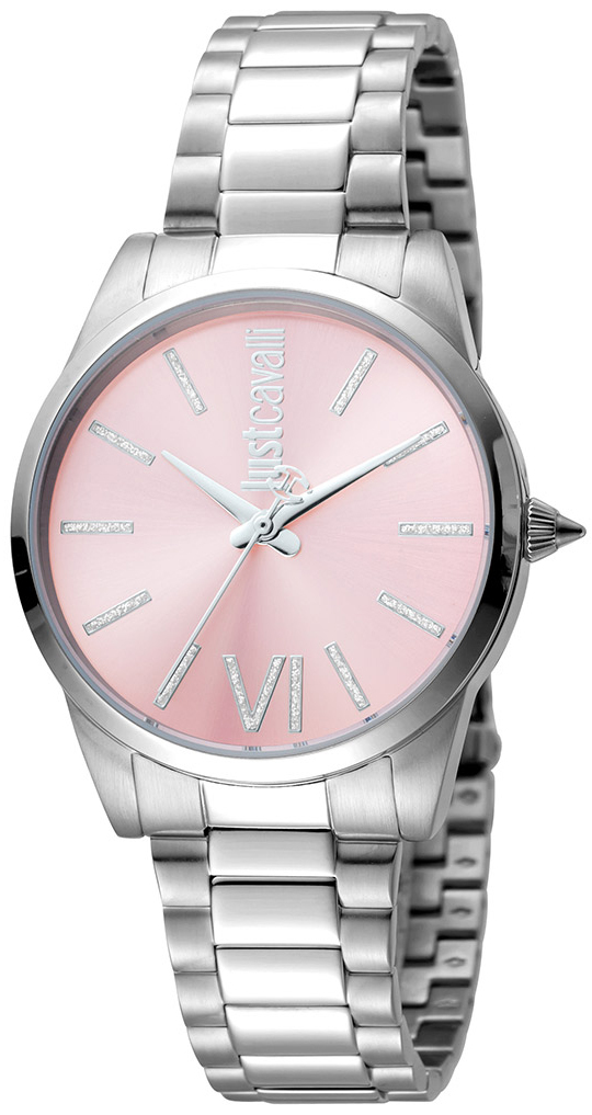 Just Cavalli Relaxed Damklocka JC1L010M0085 Rosa/Stål Ø32 mm - Just Cavalli