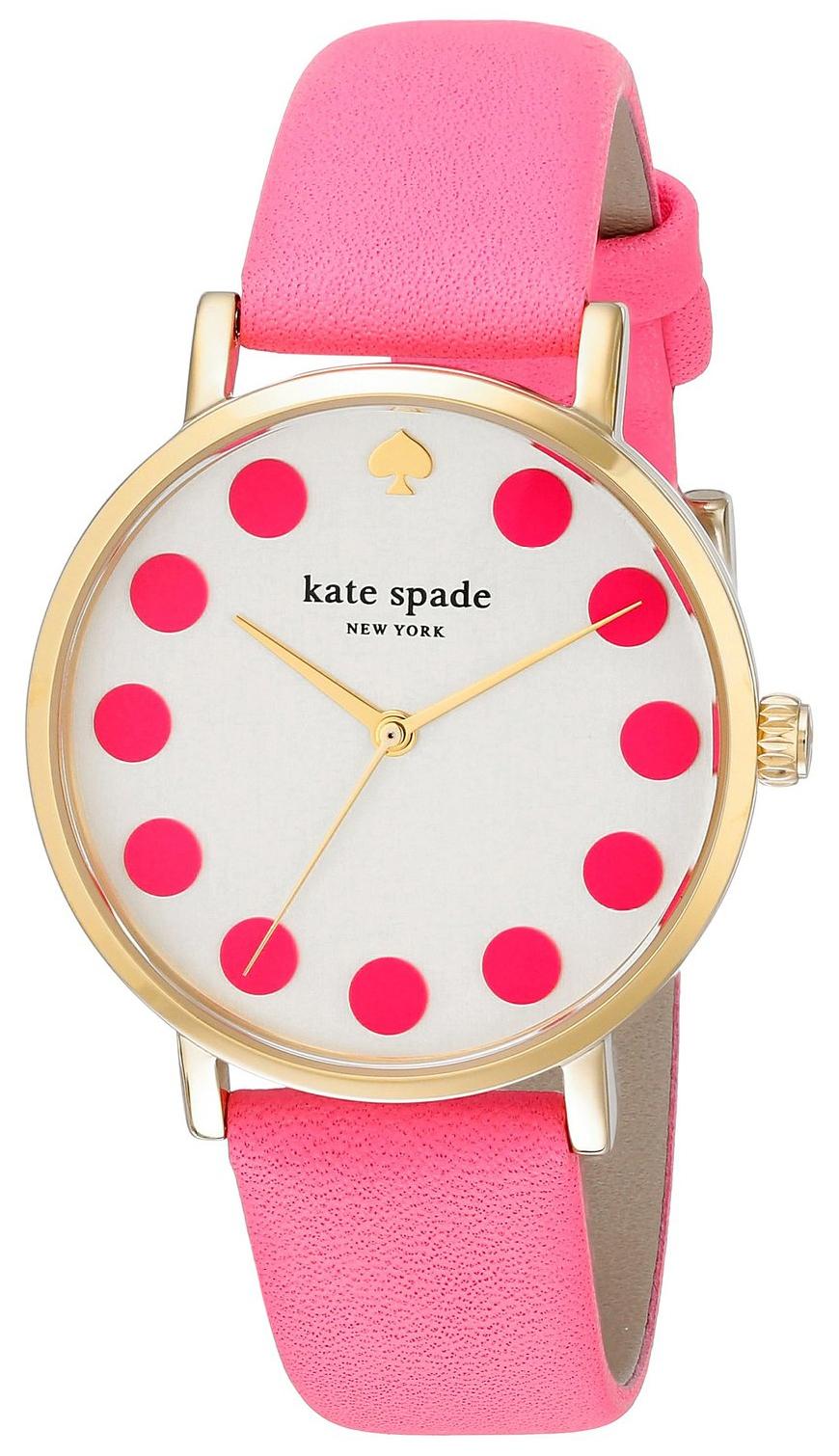 Kate Spade Metro Damklocka 1YRU0770 Silverfärgad/Läder Ø34 mm - Kate Spade