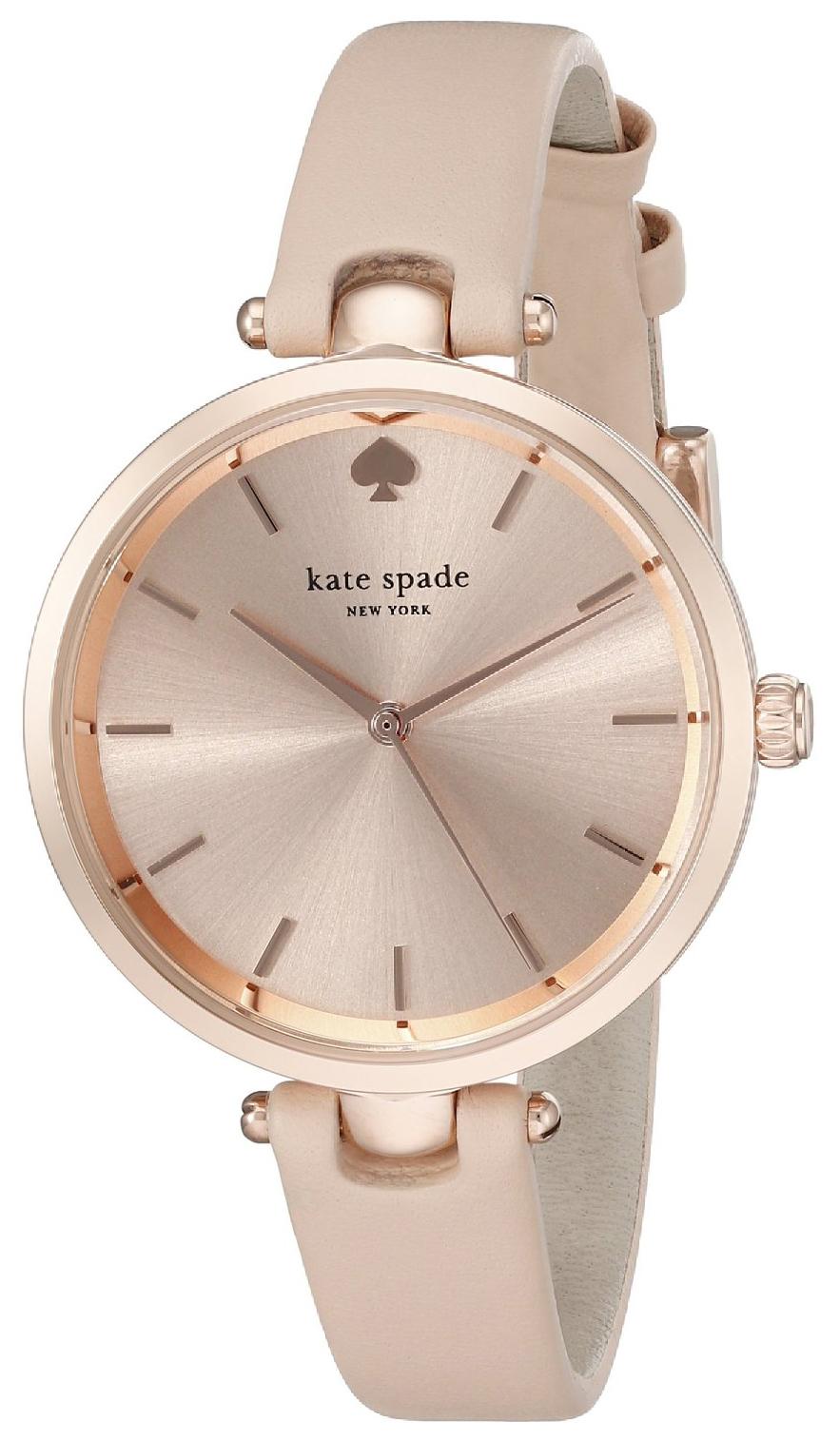 Kate Spade 99999 Damklocka 1YRU0812 Roséguldstonad/Läder Ø34 mm - Kate Spade
