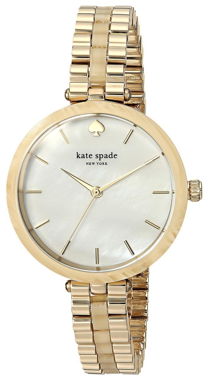 Kate Spade 99999 Damklocka KSW1331 Vit/Gulguldtonat stål Ø34 mm - Kate Spade