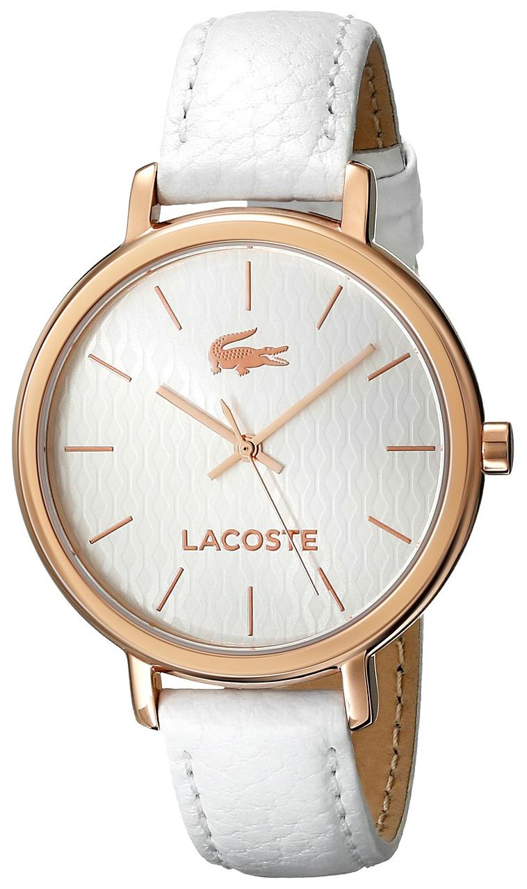 Lacoste Nice Damklocka 2000885 Vit/Läder Ø35 mm - Lacoste