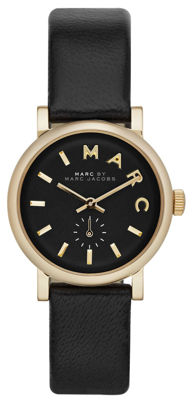 Marc by Marc Jacobs Damklocka MBM1273 Svart/Läder Ø28 mm - Marc by Marc Jacobs