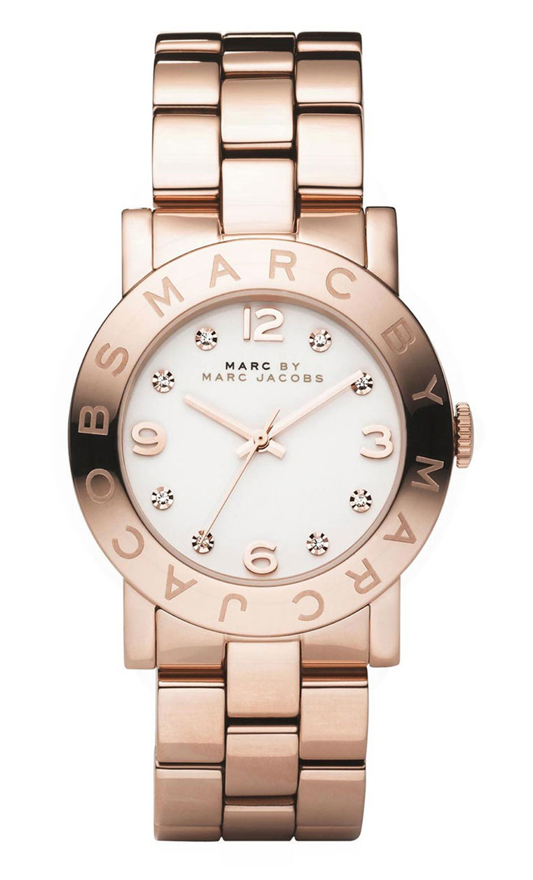 Marc by Marc Jacobs Amy Damklocka MBM3077 Vit/Roséguldstonat stål Ø36 mm - Marc by Marc Jacobs