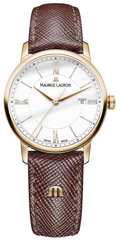 Maurice Lacroix Eliros Date Ladies Damklocka EL1094-PVP01-111-1 Vit/Läder - Maurice Lacroix