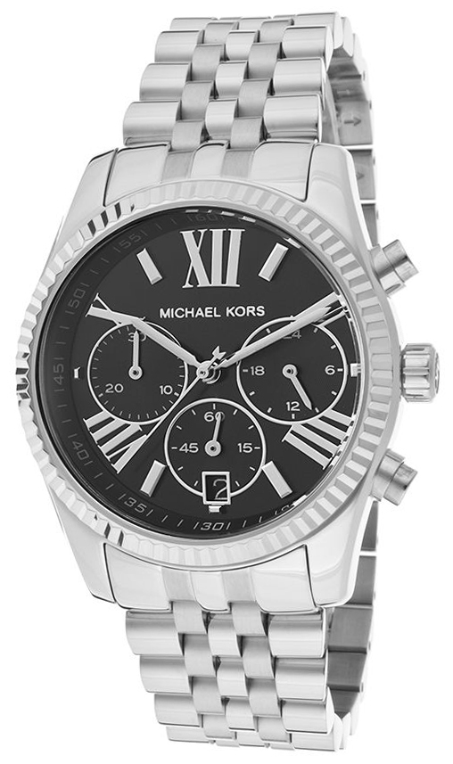 Michael Kors Lexington Damklocka MK5708 Svart/Stål Ø38 mm - Michael Kors