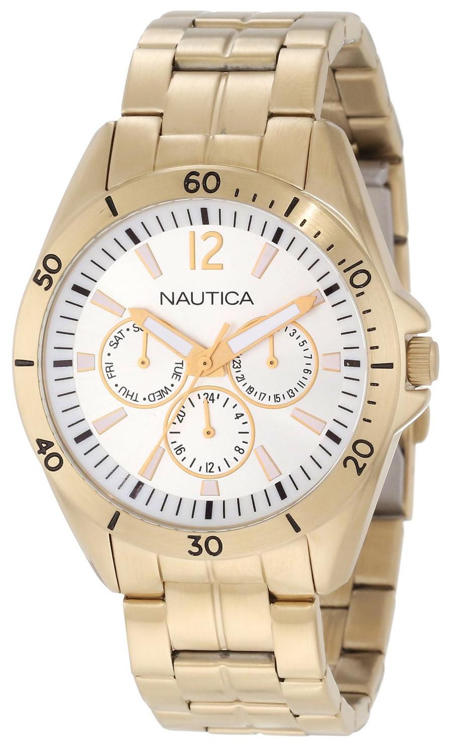 Nautica NAC Herrklocka N14637G Silverfärgad/Gulguldtonat stål Ø40 mm - Nautica