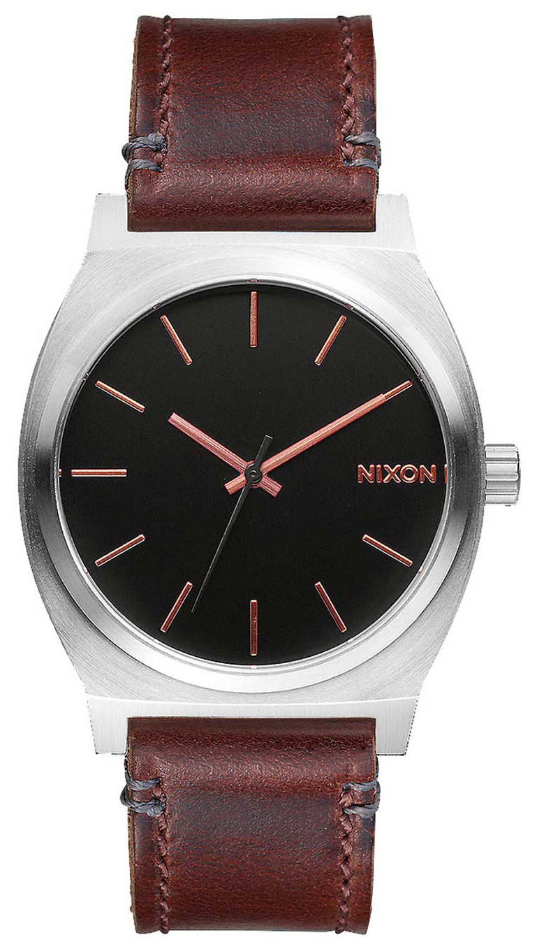 Nixon The Time Teller A0452066-00 Svart/Läder Ø37 mm - Nixon