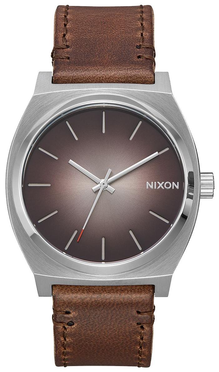 Nixon The Time Teller Herrklocka A0452594-00 Grå/Läder