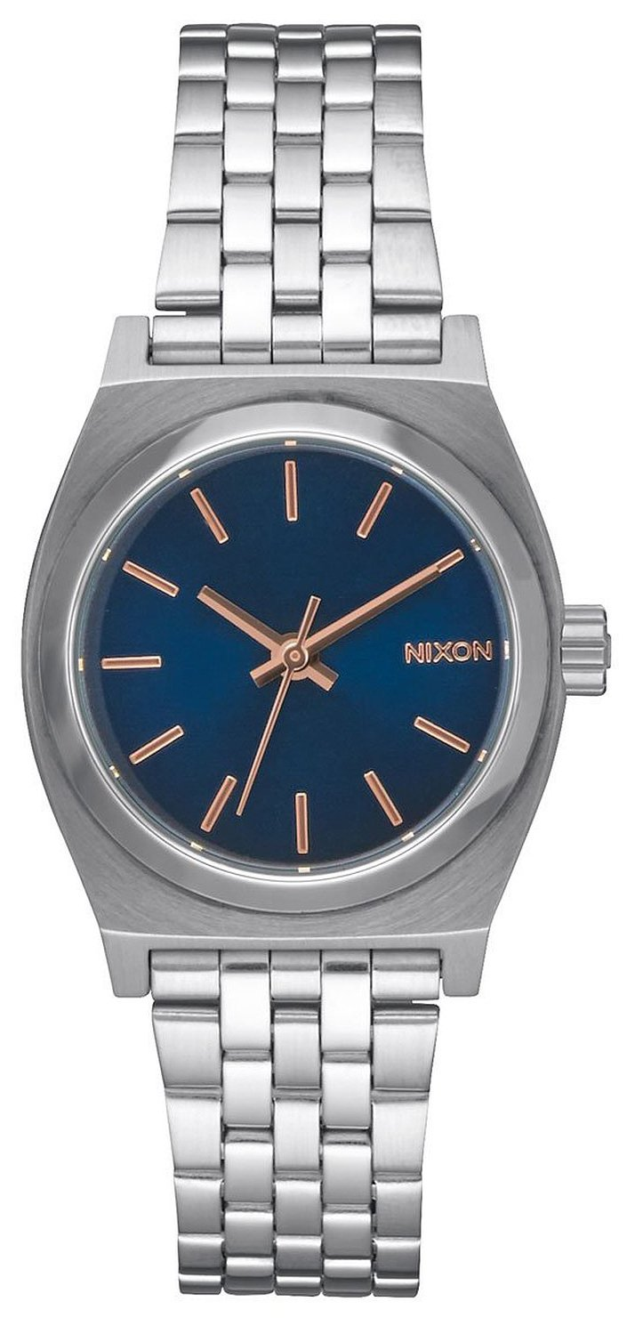 Nixon The Time Teller Damklocka A3992195-00 Blå/Stål Ø26 mm - Nixon