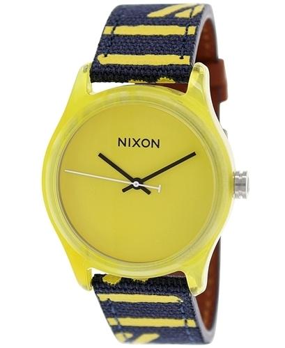 Nixon 99999 Damklocka A402250-00 Gul/Läder Ø38 mm - Nixon