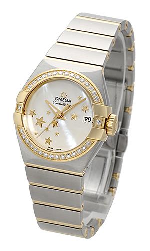 Omega Constellation Co-Axial 27mm Damklocka 123.25.27.20.05.001 Vit/Stål - Omega