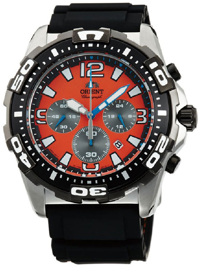 Orient Sporty Herrklocka FTW05005M0 Orange/Gummi Ø46 mm - Orient