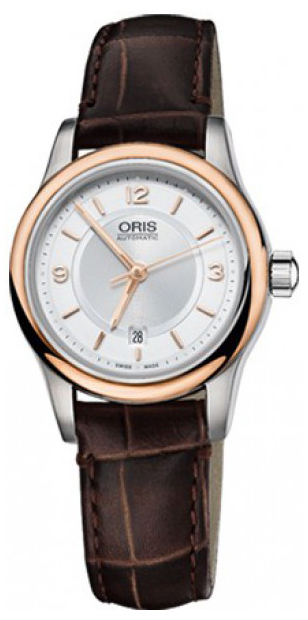 Oris Culture Damklocka 01 561 7650 4331-07 5 14 10 Silverfärgad/Läder - Oris