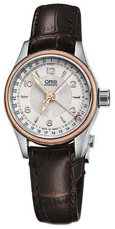 Oris Aviation Damklocka 01 594 7680 4331-07 5 14 77FC Silverfärgad/Läder - Oris